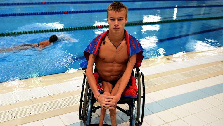 De Russische paralympiër Alexander Makarov. Beeld afp