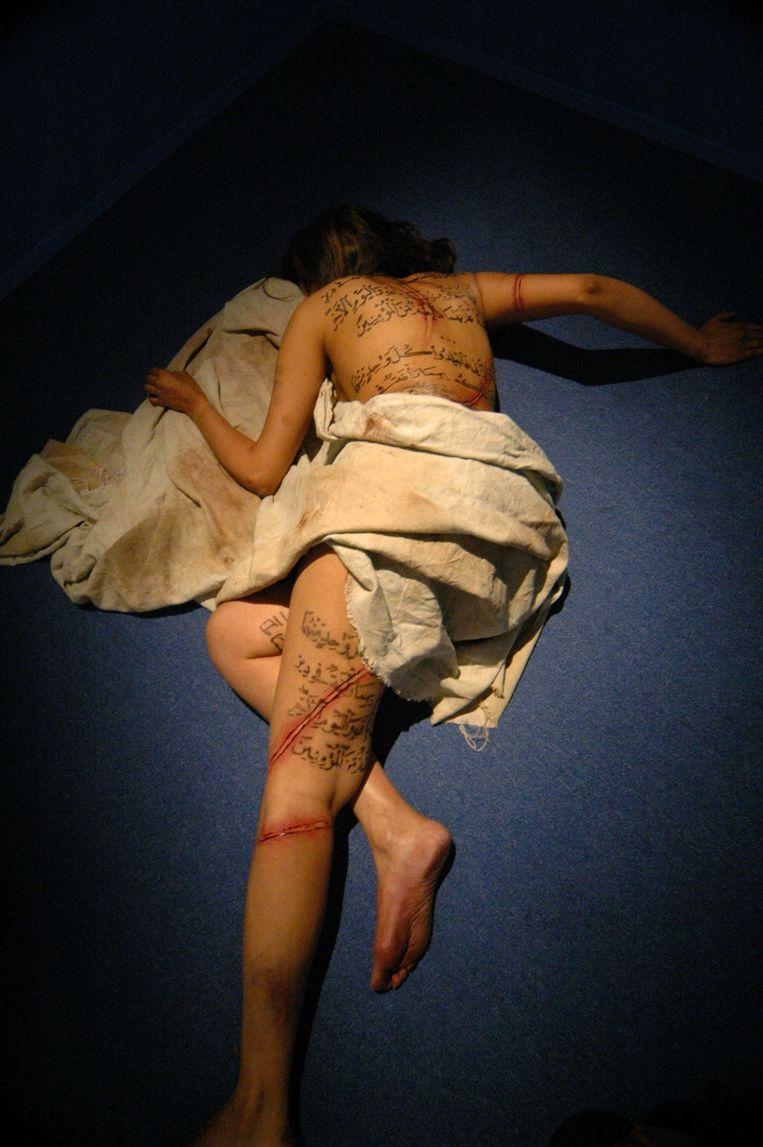 Fragment uit de film Submission van Theo van Gogh en Ayaan Hirsi Ali in 2004. Beeld ANP