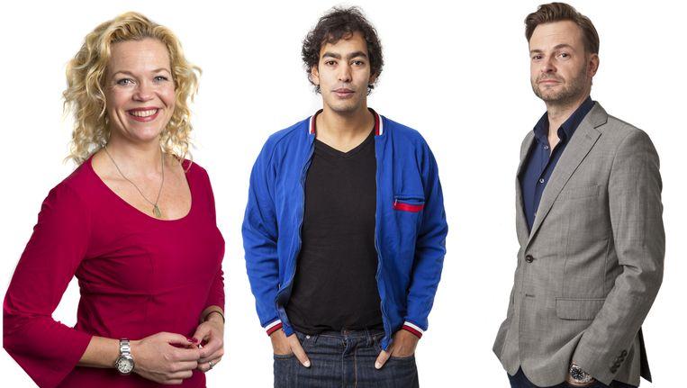 Vlnr: Roos Schlikker, Johan Fretz en Teun van de Keuken. Beeld Floris Lok