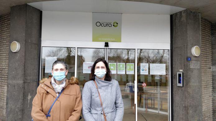 De leerkrachten die het vak in Ocura gaan geven: Lydia Roberti en Ine Vanderborght.