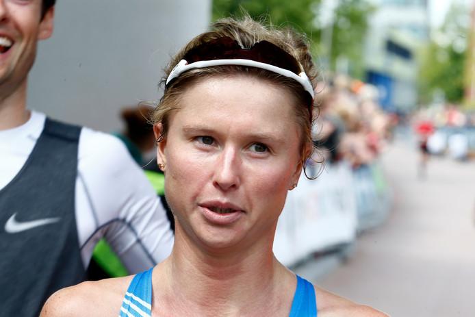 Els Visser tijdens de Utrecht Marathon.