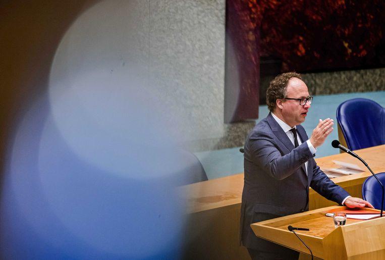 Minister Koolmees donderdag in de Tweede Kamer.  Beeld ANP