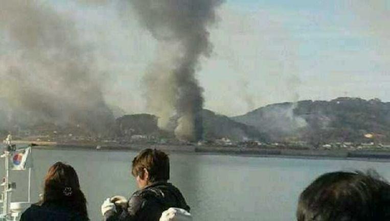 Foto's van de beschietingen. Foto's EPA Beeld