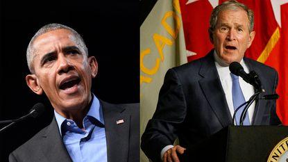 Zonder hem te vernoemen maken zowel George W. Bush als Barack Obama brandhout van Trump