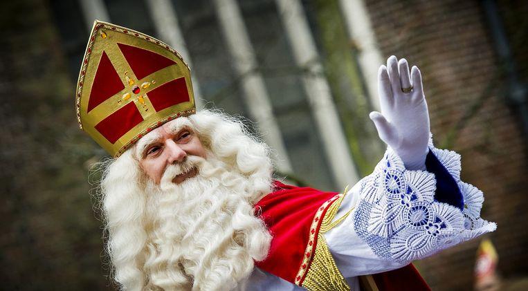 Sinterklaas bij de intocht in Groningen vorig jaar. Beeld anp