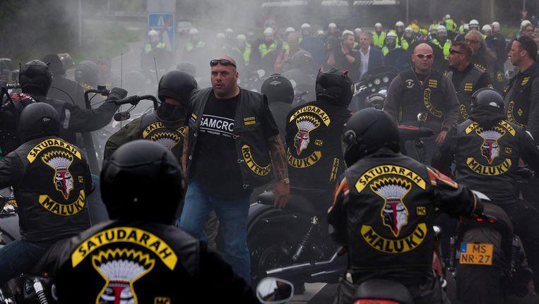 Vorig jaar waren naar schatting 1800 mannen lid van een motorbende. Satudarah is in Nederland verreweg het grootst Beeld Maarten Brante