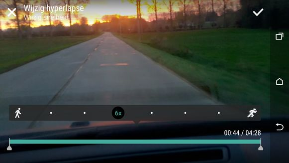 In de camera-app is het kinderspel om snel een timelapse te maken.