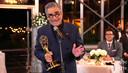 Eugene Levy accepteert zijn Emmy voor beste hoofdrol in een komedieserie voor 'Schitt's Creek'.