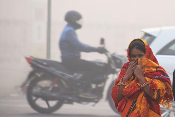 De smog in New Delhi is tien keer giftiger dan als veilig voor de volksgezondheid wordt beschouwd.