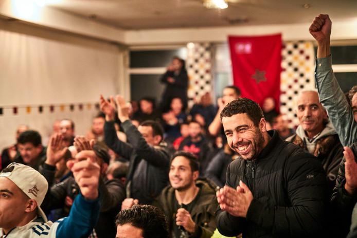 Vreugde na de Marokkaanse winst.