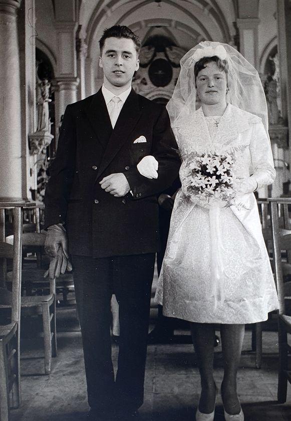 Herman en José op hun huwelijksdag in 1960.