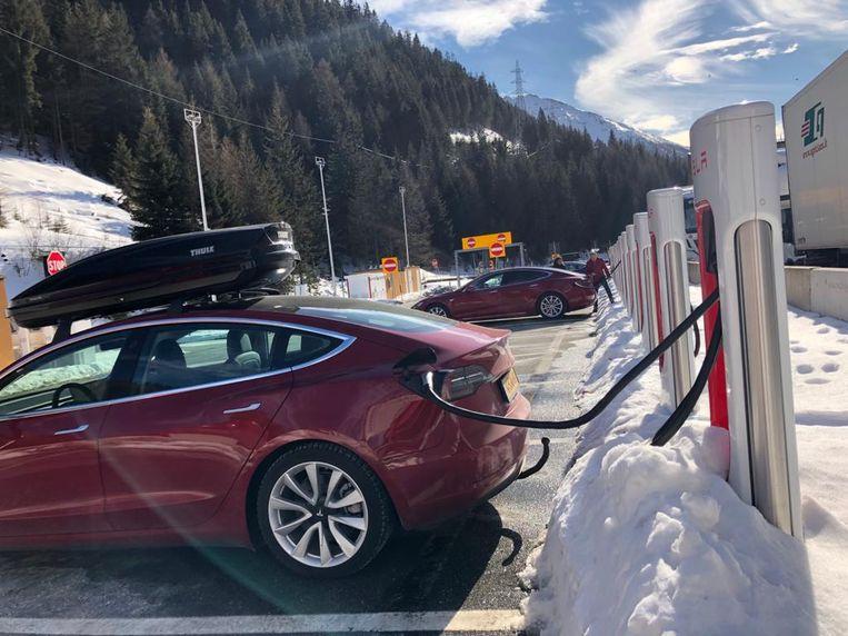 Niet overal was het druk. Bij de Brennerpas was het vorige week rustig bij Superchargers.