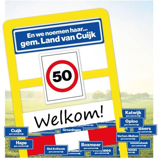 De naam van de toekomstige fusiegemeente wordt Land van Cuijk. De gemeente waar Grave zich mogelijk bij aansluit.