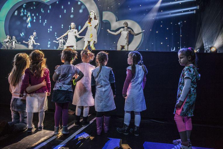 Wel acht keer treden het oude en het nieuwe K3 dit weekend op in de Heineken Music Hall. Beeld Amaury Miller, www.aumaurymiller.nl