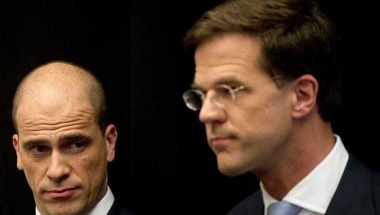 Diederik Samsom en Mark Rutte Beeld anp