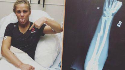 Niet alleen mooi snoetje maar ook harde tante: UFC-vechtster Paige Vanzant knokt meer dan twee rondes lang met gebroken arm