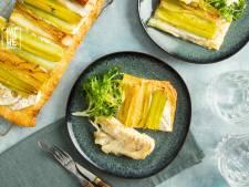 Wat Eten We Vandaag: Preitaart met kabeljauw en frisée