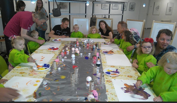Een workshop tijdens het Peuterfestival in Breda.