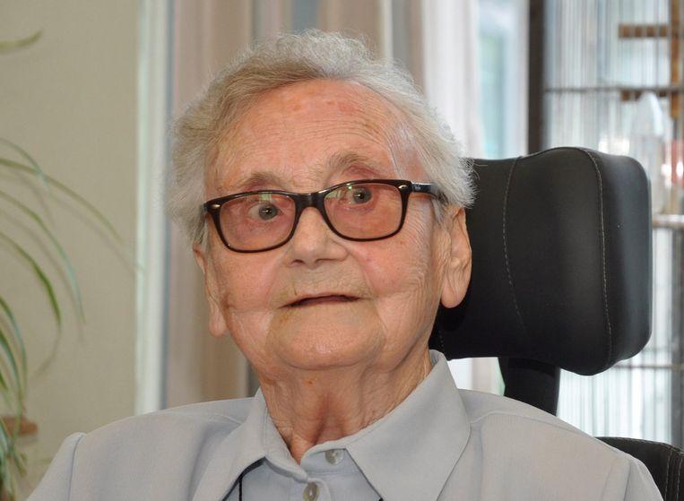 Julia Vleminckx, hier tijdens haar 91ste verjaardag.