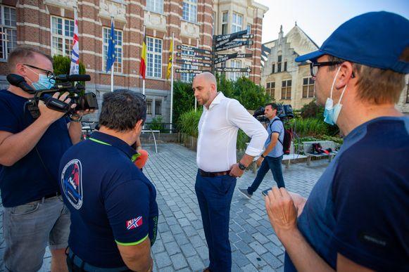 Anthony Mallego, de advocaat van de nabestaanden van Ilse Uyttersprot, vanmorgen in Dendermonde.