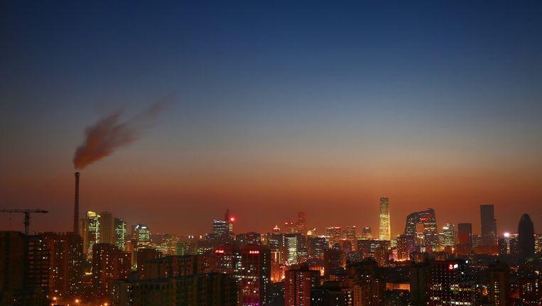 De skyline van Peking. Beeld Getty Images