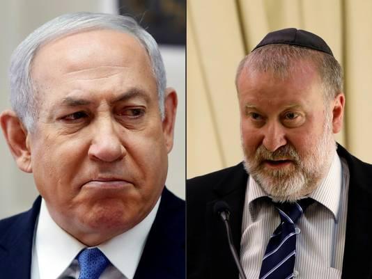 Benjamin Netanyahu et Avichaï Mandelblit