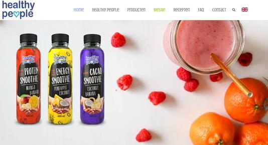 Screenshot van de website van Healthy People.