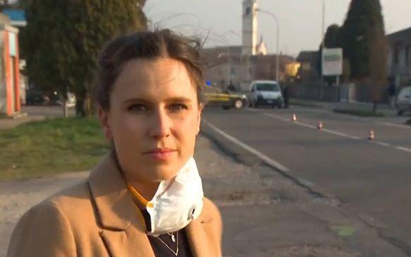 Onze reporter Birgit Herteleer in Italië.
