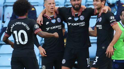 Dominant Chelsea heeft Batshuayi niet nodig en boekt al bij al simpele zege bij Aston Villa