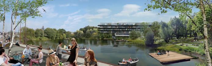 De woningbouw op Stadsblokken en Meinerswijk, waarvan hier een impressie, zou tot de projecten behoren die mogelijk hinder ondervinden van de gerechtelijke uitspraak over het stikstofbeleid van de overheid.