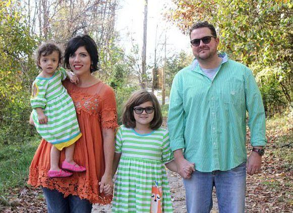 Melissa met haar gezin.