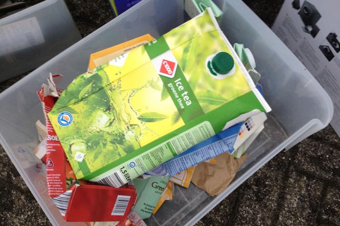 Inzameling van sappakken