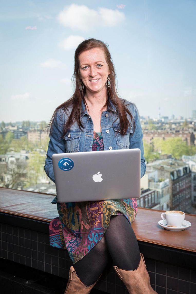 Sandra Keus: 'Alleen laptop en wifi nodig' Beeld Dingena Mol