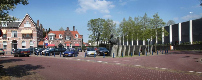 Het metershoge geluidsscherm langs de A2 is klaar. Op foto het Maurickplein.
