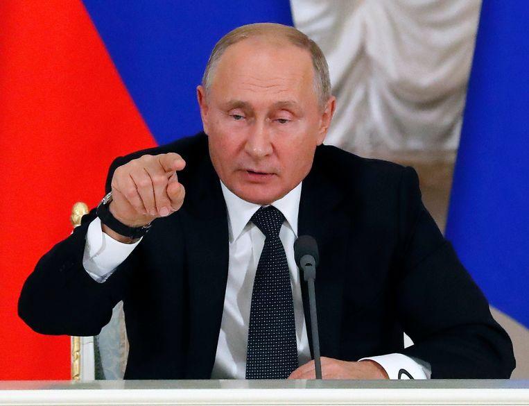 MOSKOU - Het Russische ministerie van Buitenlands Zaken zegt dat Britse beschuldigingen aan het adres van de militaire inlichtingendienst GROe getuigen van een 'levendige fantasie'.  Beeld EPA