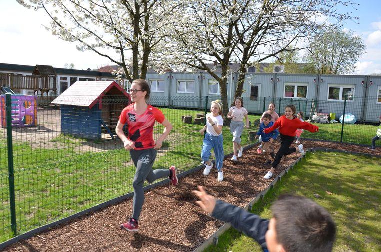Met de ingebruikname van een Finse piste investeerde de Bengelschool vorig schooljaar al in beweegvriendelijkheid op haar site aan de Zelebaan.