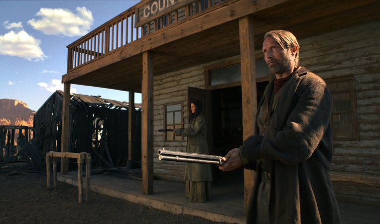 Mads Mikkelsen in The Salvation. Beeld null