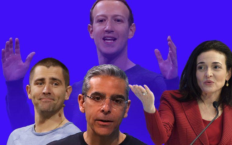 Chris Cox (links) wordt baas van alle apps, David Marcus (midden) gaat aan de slag met bitcoin. Operationeel directeur Sheryl Sandberg (rechts) blijft in functie.