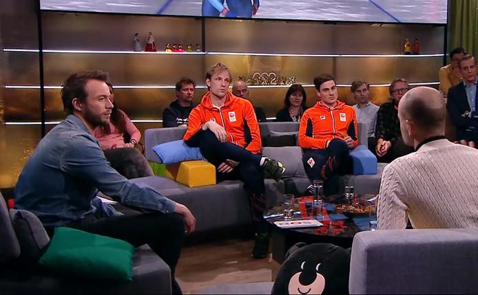 Henry Schut in het tv-programma Studio Sportwinter.