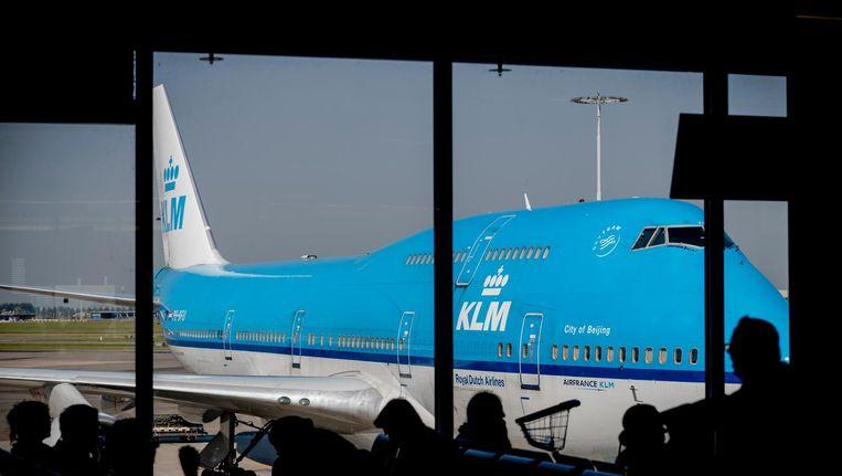 Een vliegtuig van luchtvaartmaatschappij KLM. Beeld anp