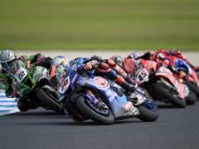 Van der Mark net buiten podium in openingsrace WK Superbike