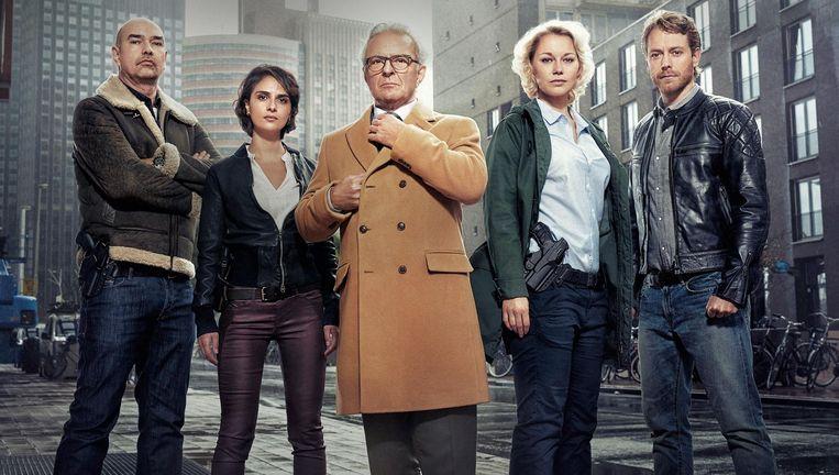 De cast van Flikken Rotterdam. Beeld AvroTros