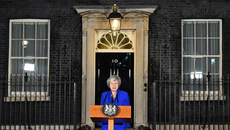 Theresa May na de motie van wantrouwen Beeld ANP