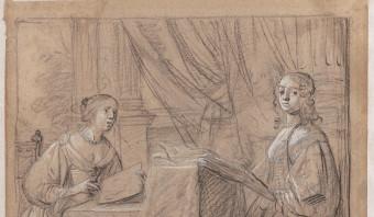 Tekenles voor twee prinsessen