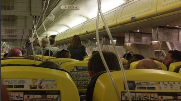Een beeld vanuit het vliegtuig.