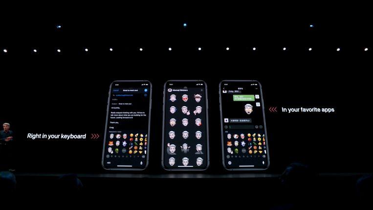 De stickers kan je gebruiken in verschillende apps