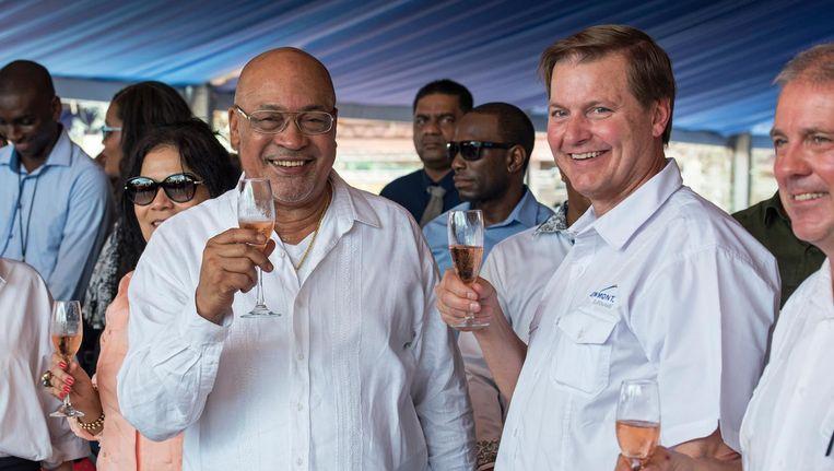 President Bouterse eind vorig jaar. Beeld ANP/Pieter van Maele
