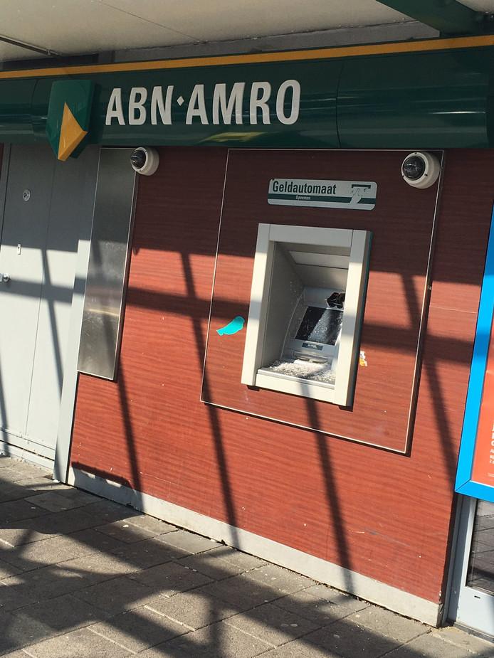 De pinautomaat aan het Dillenburgplein in Ridderkerk.