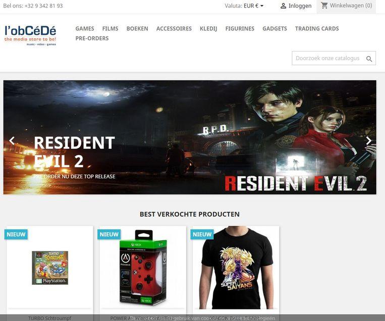 De nieuwe webwinkel van l'Obcédé oogt fris.