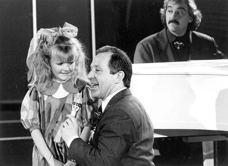 De kleine Silvy in 'De Kinderacademie' naast wijlen Walter Capiau.